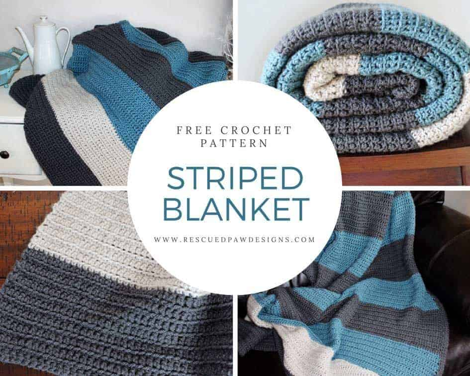 Striped Crochet Blanket Pattern for Beginners