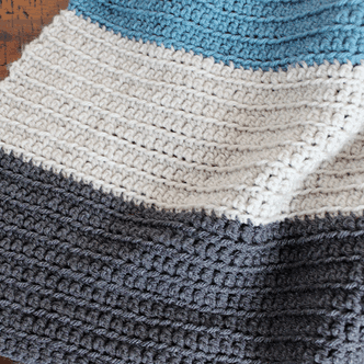 Simple Crochet Blanket – Color Blocked Stripes