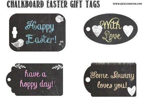 Free Easter Chalkboard Printables
