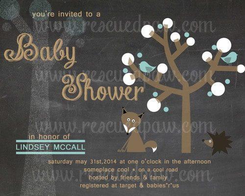 Chalkboard Style Baby Shower Invitation