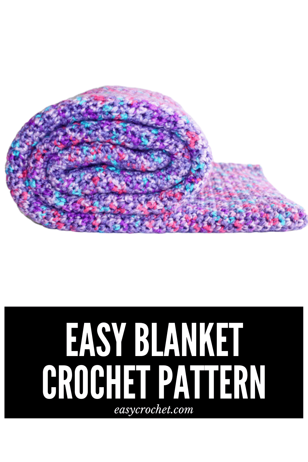 Make this beginner-friendly crochet blanket with this FREE crochet blanket pattern from Easy Crochet. Find the pattern at easycrochet.com via @easycrochetcom
