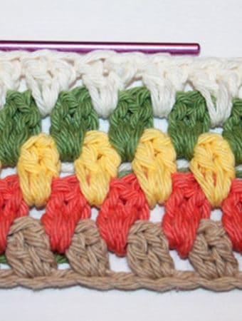 Double Crochet Cluster Tutorial