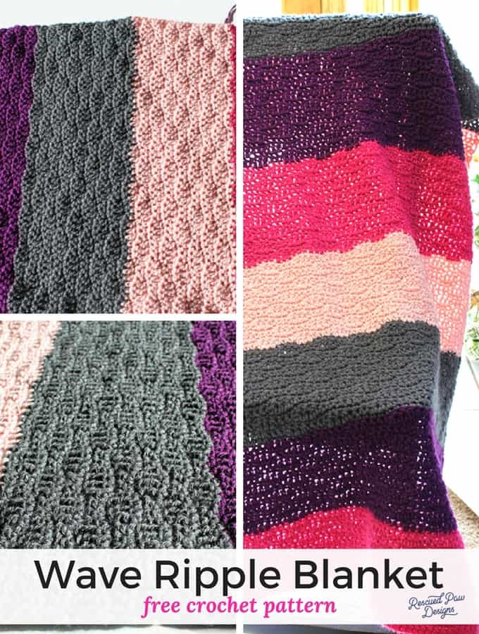 Crochet Ripple Blanket Tutorial