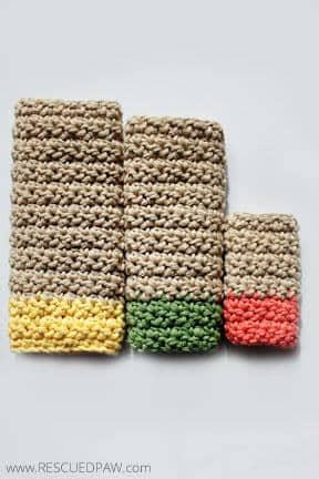 FREE Dishcloth Crochet Patterns and Printable Tags