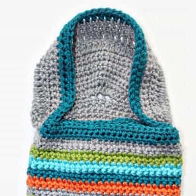 Hooded Crochet Baby Blanket
