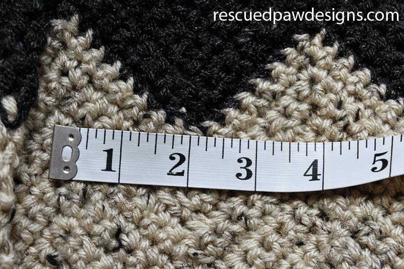 Checking Gauge on a Crochet Blanket