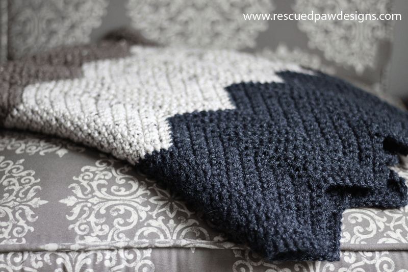Easiest Chevron Crochet Blanket Pattern Pattern Using Single Crochets