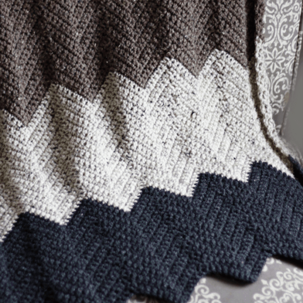 Chevron Crochet Throw Blanket