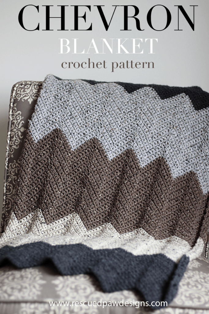 Chevron Blanket Crochet Pattern by Rescued Paw Designs
