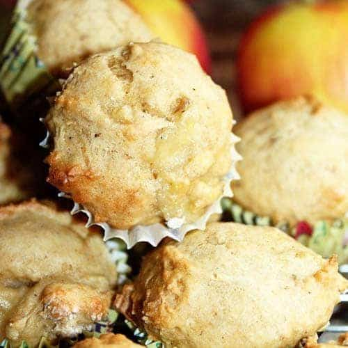 Banana and Apple Mini Muffins