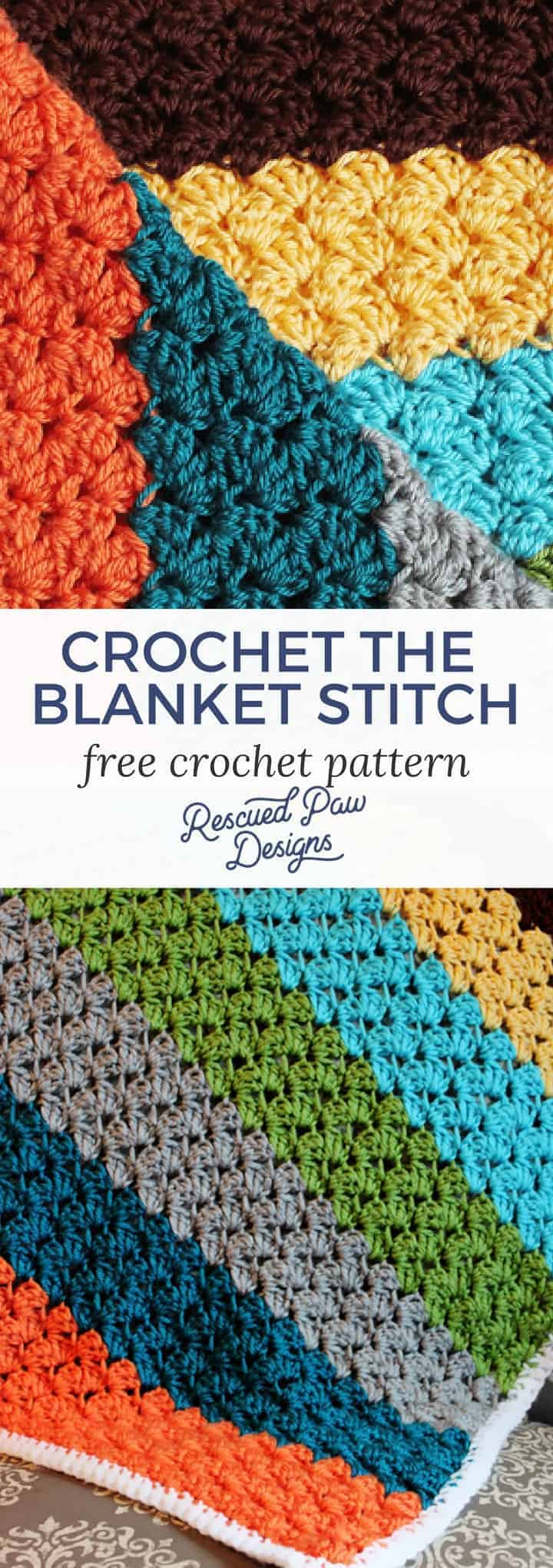 Crochet Blanket Stitch Pattern - A Crochet Stitch for Blankets