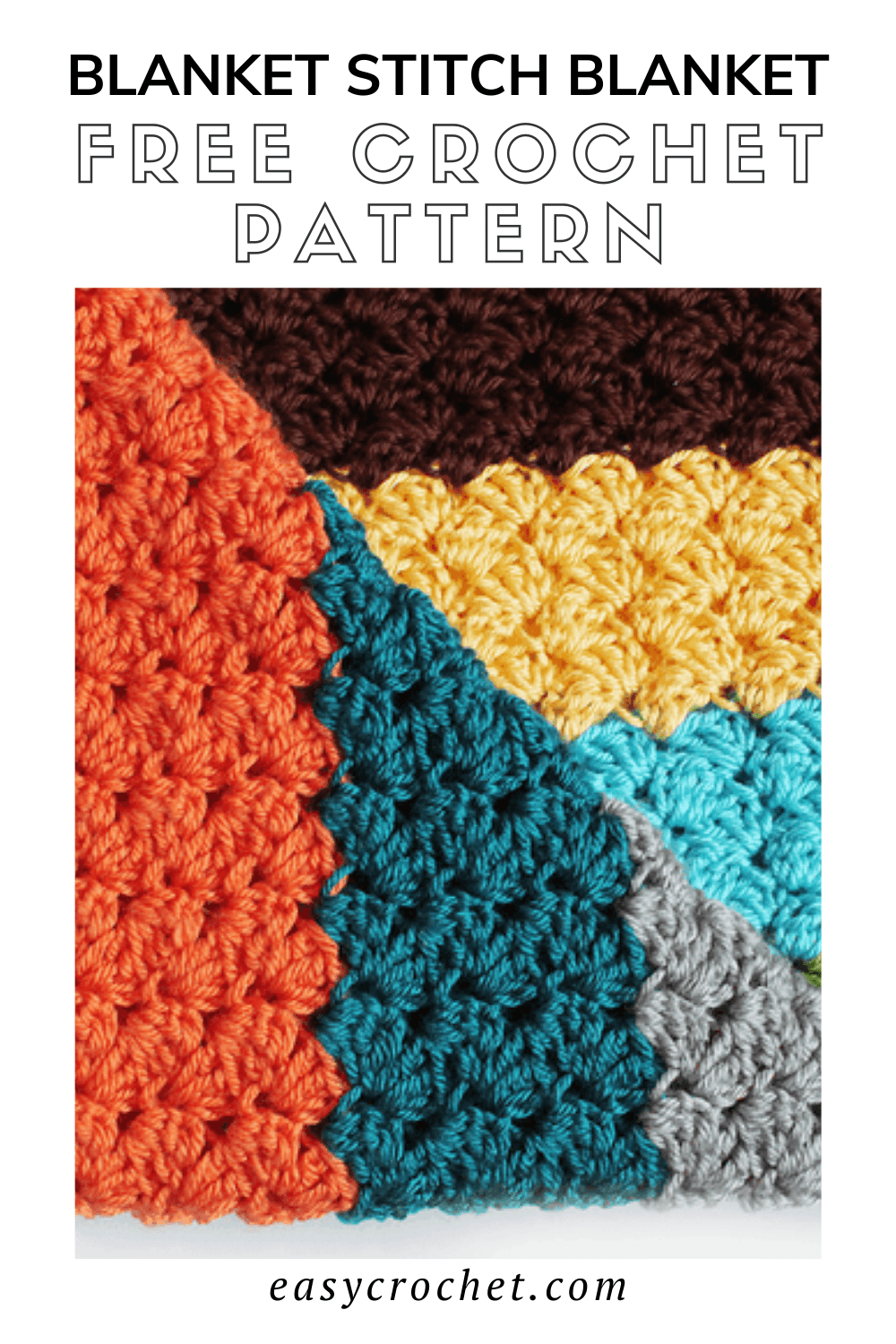 Learn how to crochet the easy blanket stitch with this free crochet stitch tutorial that is perfect for blankets, and many other crochet projects! via @easycrochetcom