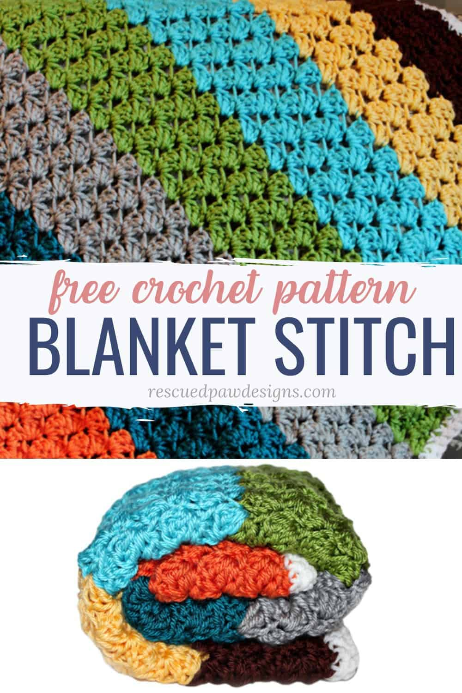Gorgeous Crochet Blanket Stitch Pattern via @rescuedpaw