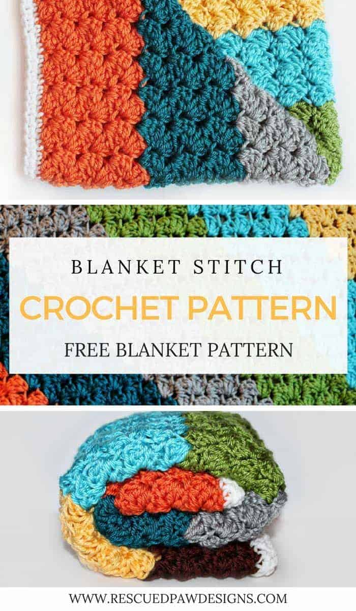 Crochet blanket stitch pattern rescued paw designs crochet crochet blanket stitch pattern bankloansurffo Image collections