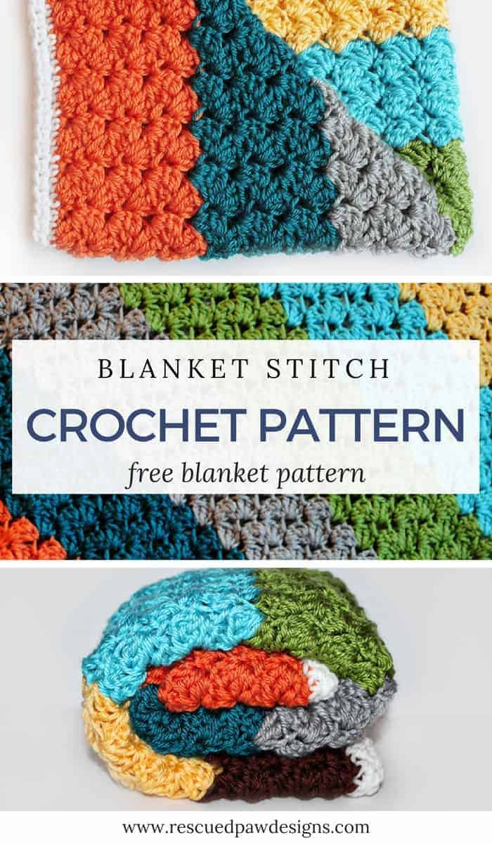 Crochet Blanket Stitch Pattern - Crochet Stitch for Blankets!