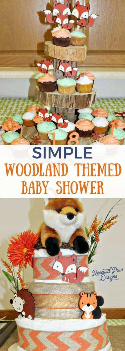 Simple Woodland Themed Baby Shower - DIY Woodland Animals Baby Shower Centerpiece