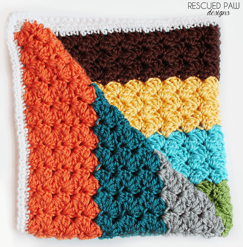 Crochet Stitches For Blankets Rescued Paw Designs Crochet