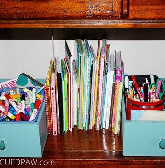 DIY Repurposed Drawer Organizers