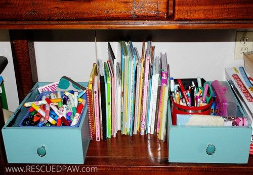 DIY Repurposed Drawer Organizers