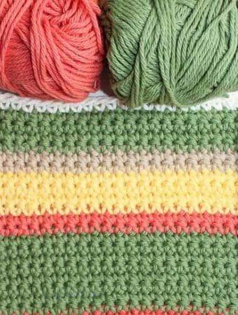 Modern Striped Dishcloth Pattern