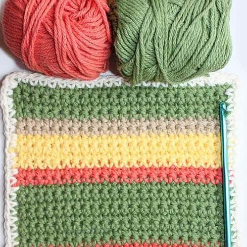 Modern Striped Dishcloth Pattern