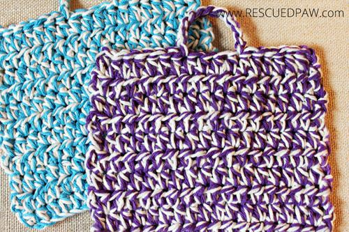 Crochet Hot Pads with Handles