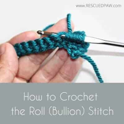 How to Crochet the Roll Stitch