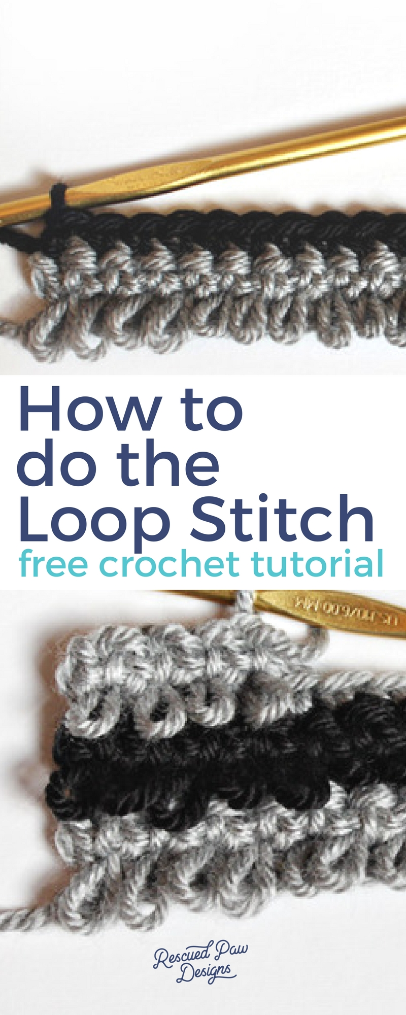 Learn How to do the Loop Stitch in Crochet! Crochet Loop Stitch!
