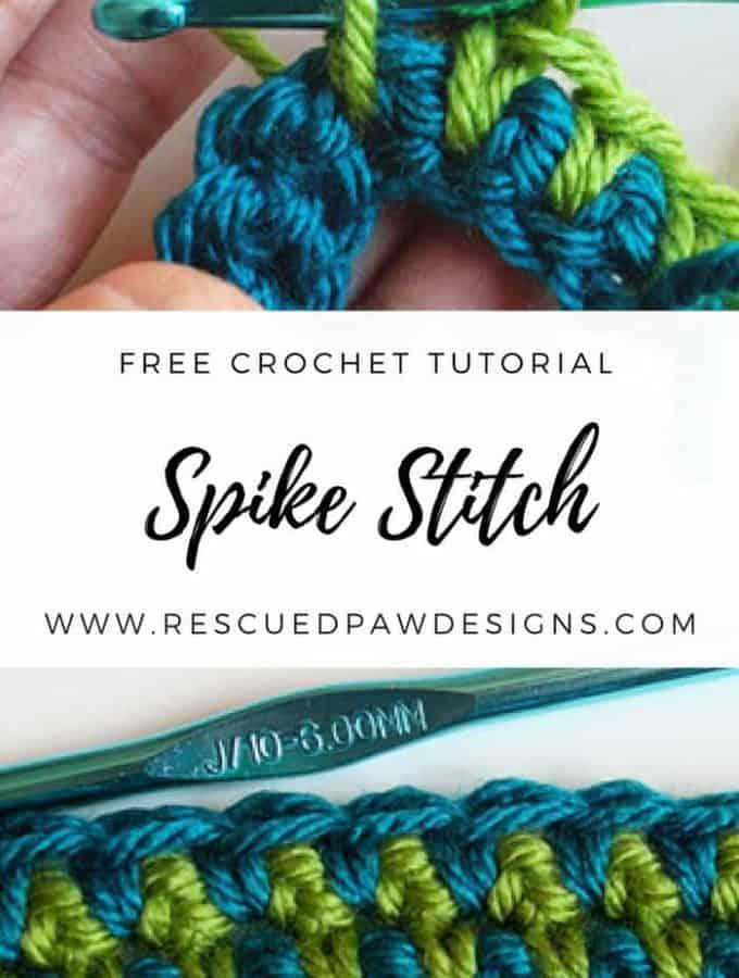 How to Make a Spike Stitch – Crochet Tutorial