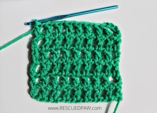Crochet Stitches Mesh : Learn to Crochet the Mesh Stitch - Rescued Paw Designs