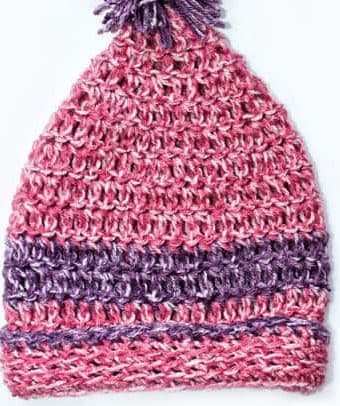 Crochet Hat Pattern with a Pom Pom