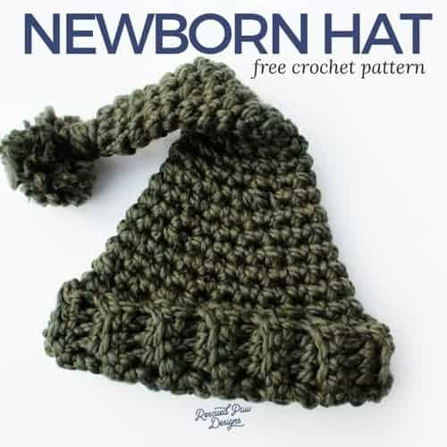 Free Newborn Crochet Hat Pattern with a Pom Pom!