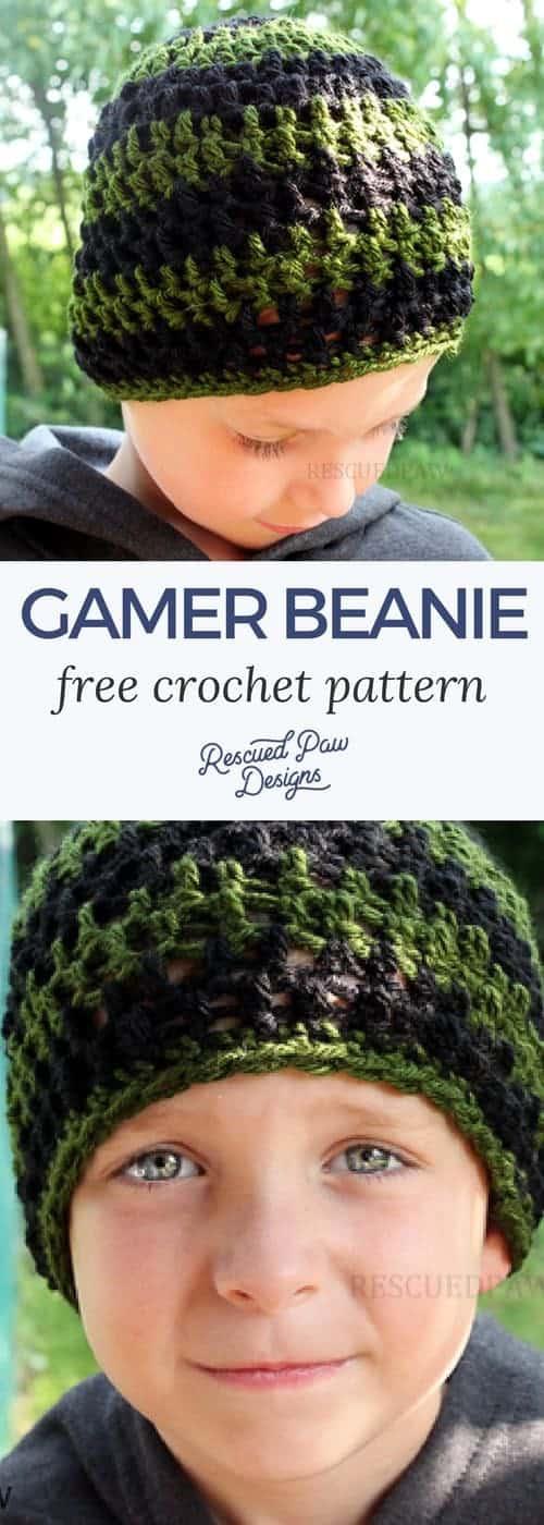 Free Crochet Hat Pattern - Free Gamer Crochet Pattern