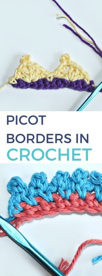 How to Do Picot Borders in Crochet - Rescued Paw Designs - Free Crochet Tutorial