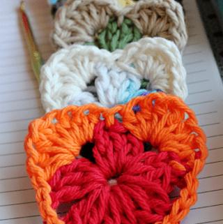 Crochet Granny Heart Pattern