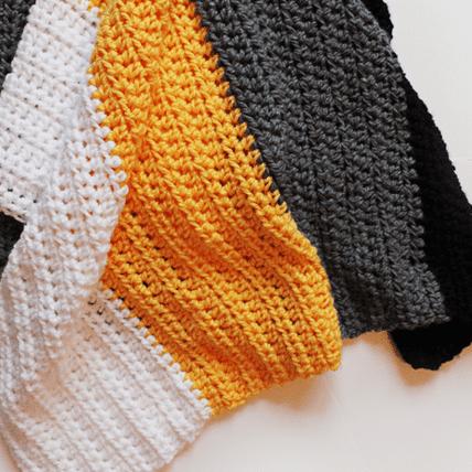 Pittsburgh Crochet Throw Blanket