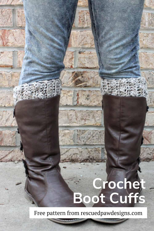 Crochet Boot Cuffs Free Pattern via @rescuedpaw
