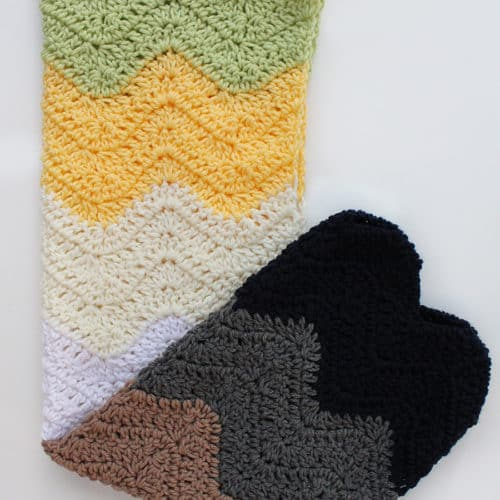 Modern Striped Ripple Baby Blanket