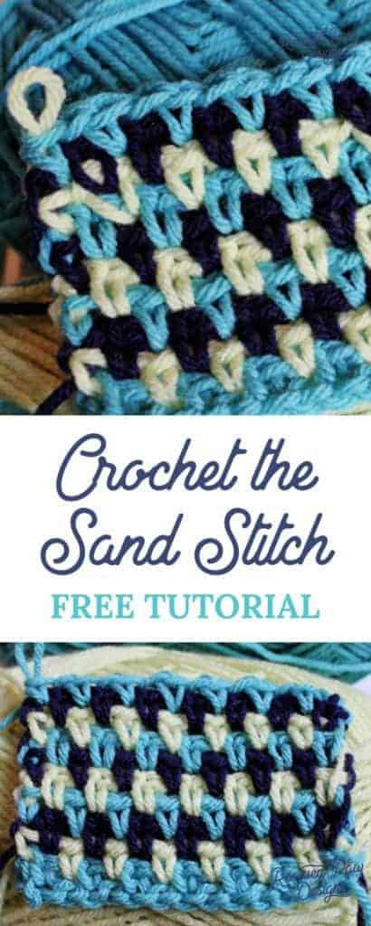 Crochet Sand Stitch Pattern Free Crochet Tutorial