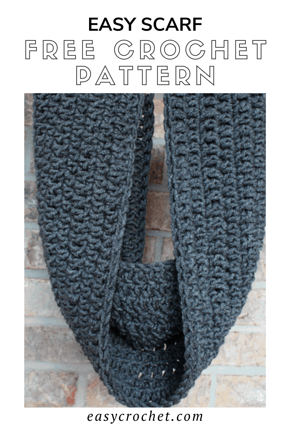 Extra Long Crochet Scarf Pattern - Easy to make and perfect for beginners! Uses just one stitch and works up fast. Find the free crochet pattern at easycrochet.com via @easycrochetcom
