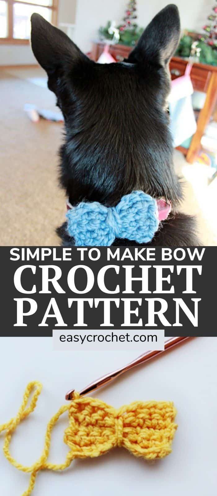 Free Crochet Bow Tie Pattern from Easy Crochet at easycrochet.com via @easycrochetcom