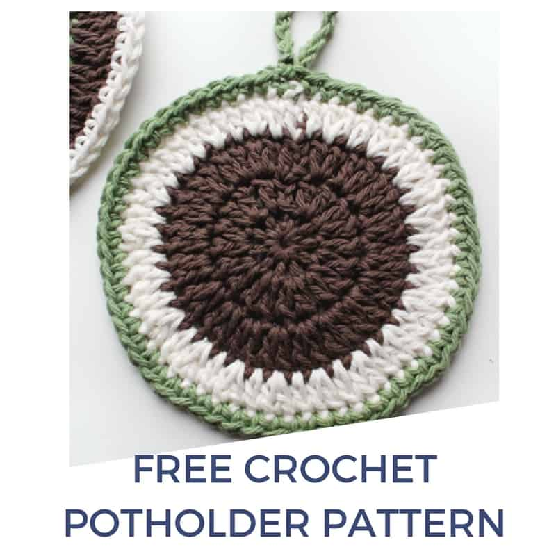 Crochet Round Potholder Free Pattern Rescued Paw Designs