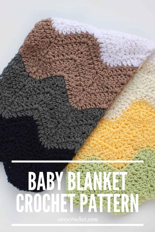 FREE crochet baby blanket pattern for a car seat, stroller or more! via @easycrochetcom