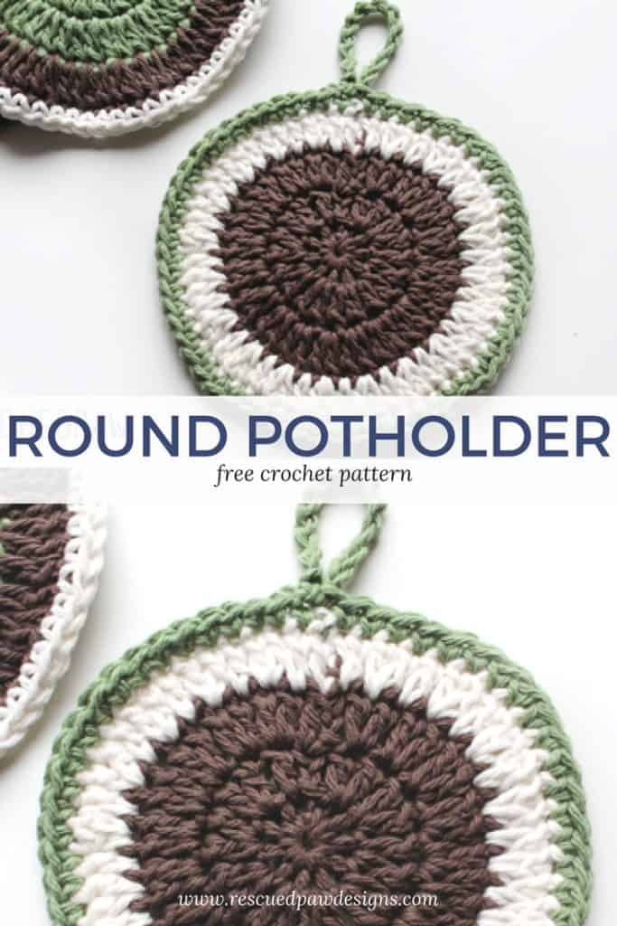 Crochet Round Pot Holder Pattern Free Simple Crochet Potholders