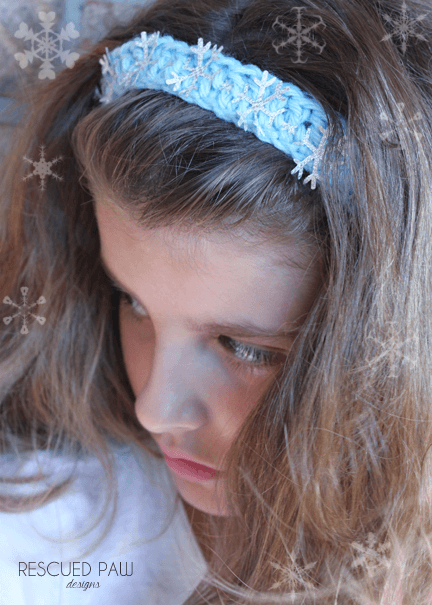 Crochet Headband Pattern – Frozen Snowflakes
