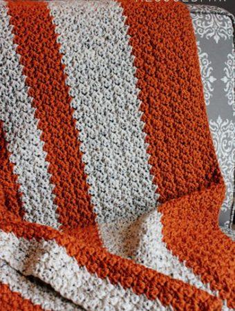 Crochet Pattern Giveaway {Pumpkin Tweed Blanket}