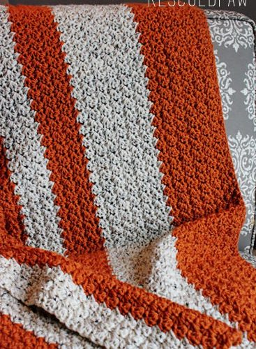 Crochet Pattern Giveaway {Pumpkin Tweed Blanket}