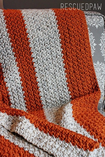 FREE Crochet Pattern for a Pumkin Blanket