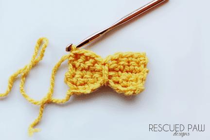 Easy Yarn Crochet Bow Ties
