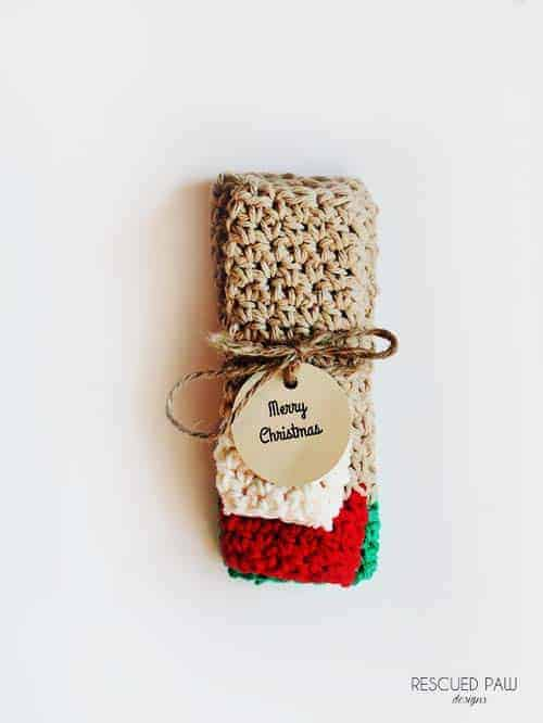 Merry Christmas Tag Crochet Gift